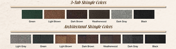 storage shed shingle colors