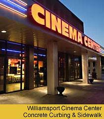 williamsport cinema curbing and sidewalk by Wolyniec