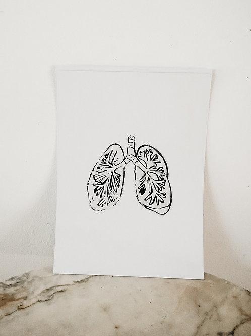 (PRINT) Lung, Linoleum X Pure, art-print on premium paper, limited
