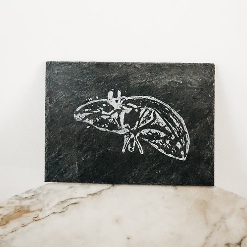 Liver, Linoleum X Slate, art-print on slate, limited