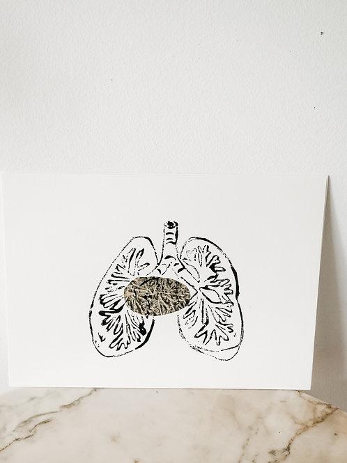 Lung, Metallic X Linoleum, original-print on paper, limited