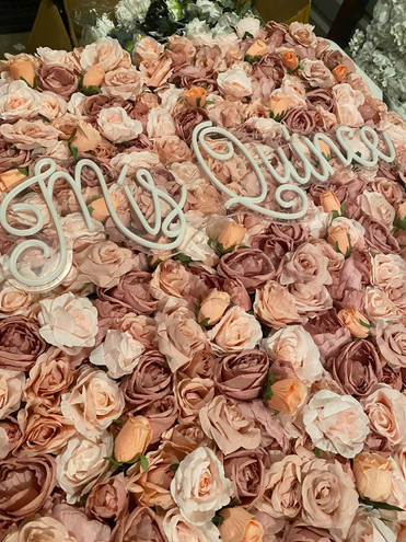 Pink & Blush Flower Wall