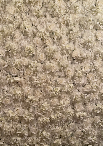 Cream Flower Wall 2