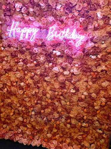 Blush & Pink Flower Wall