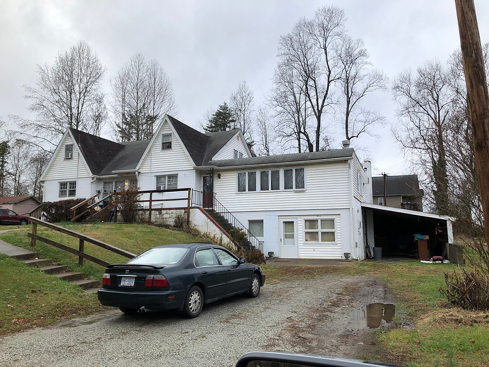 Old farm house converted to multifamily quad fourplex in Kernersville, North Carolina NC