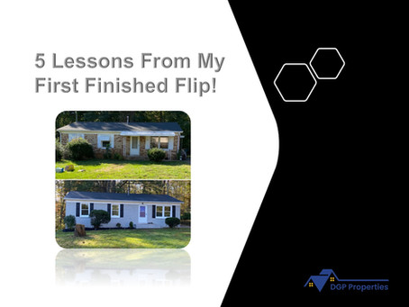 5 Lessons From My First Finished Flip!