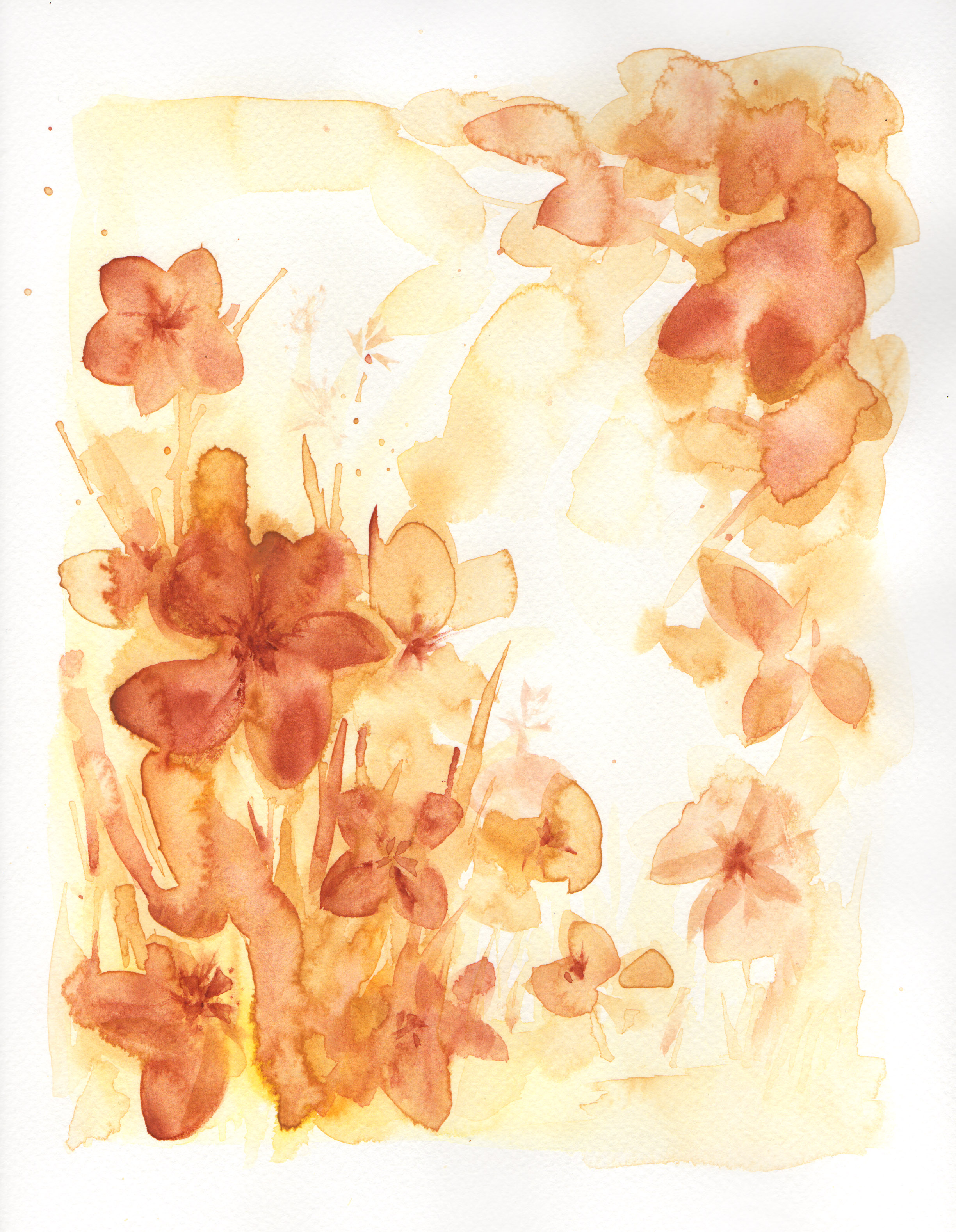 Botanical Study, burnt orange no.1