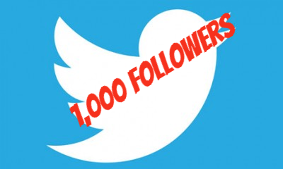 1,000 Twitter Followers