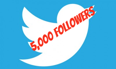 5,000 Twitter Followers