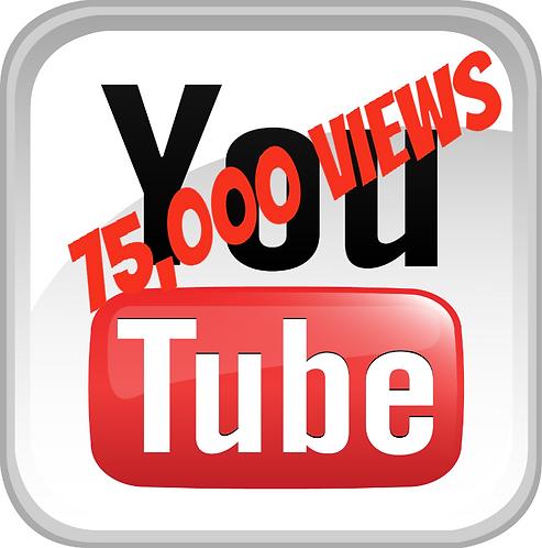 75,000 YouTube Views