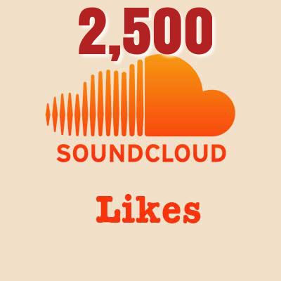 2,500 Soundcloud Likes
