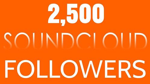 2,500 Soundcloud Followers