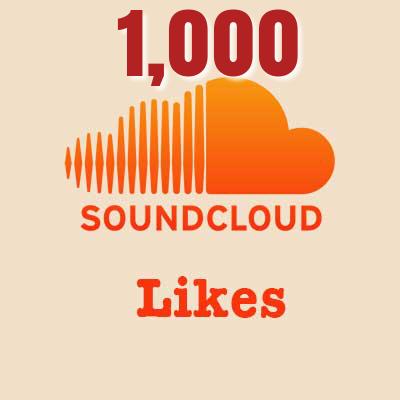 1,000 Soundcloud Likes