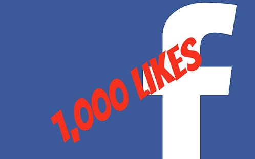 1,000 Facebook Fanpage Likes
