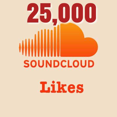 25,000 Soundcloud Likes