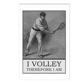 I Volley Therefore I Am Postcards.png