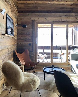 décoration d'un appartement dans les alpes