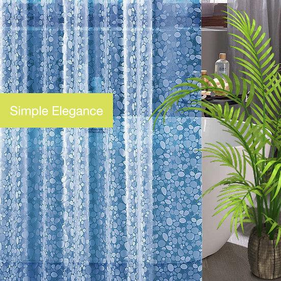 ComfiTimeShower CurtainLiner,Sapphire