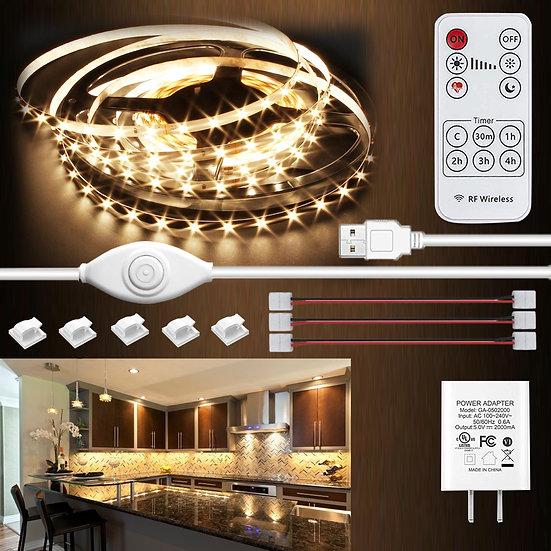 Under Cabinet LED Lighting kit,LED Strip Lights with Remote Control Dimmer
