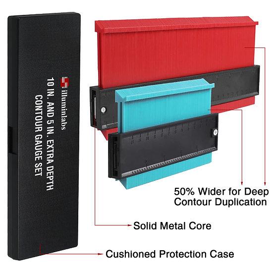 illuminlabs Contour Gauge w/Storage Case & Alumin