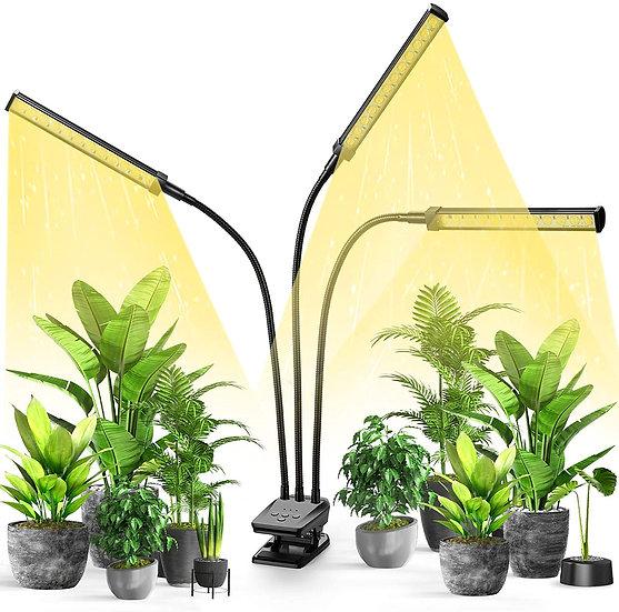 illuminlabs Full Spectrum LED Grow Lights with Timer & Dimmer (Long Tube)