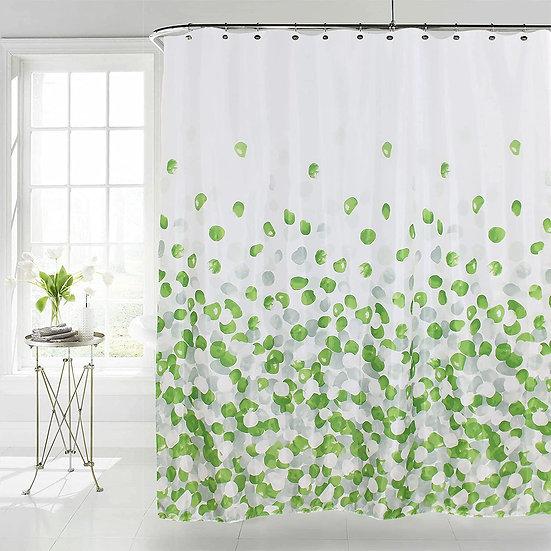 ComfiTime Shower Curtain, Farmhouse Shower Curtain Set (Green)