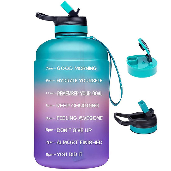 ComfiTime Water Bottle with Time Marker (128 oz)