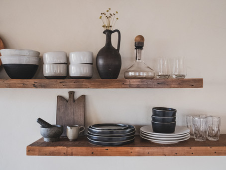 Exploring Fun Bracket Options for Open Shelving in the Kitchen