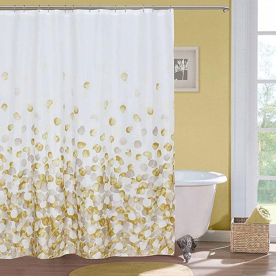 ComfiTime Shower Curtain, Farmhouse Shower Curtain Set(Yellow)