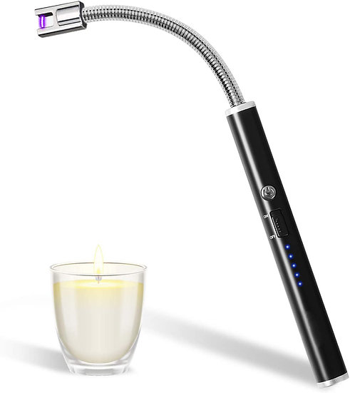 Electric Candle Lighter, Upgraded USB Charging Arc Lighter with 360° Flexible Ne