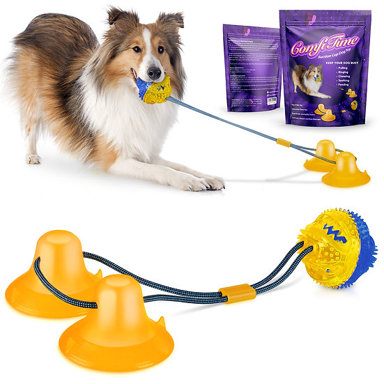 ComfiTime Interactive Suction Cup Dog Toy