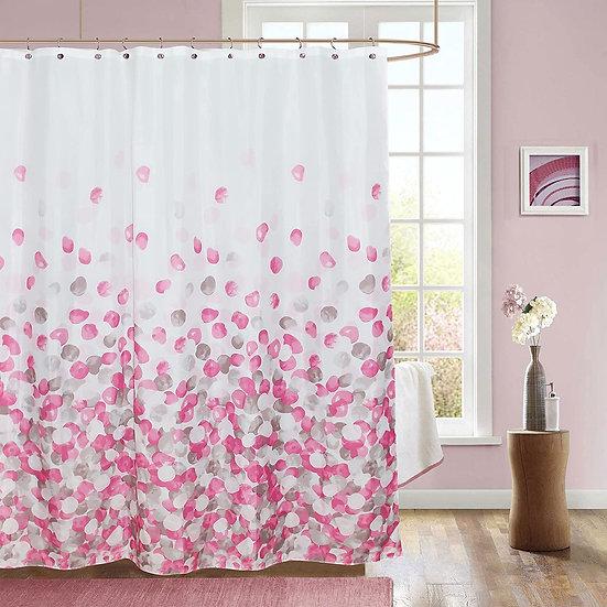 ComfiTime Shower Curtain, Farmhouse Shower Curtain (Pink)