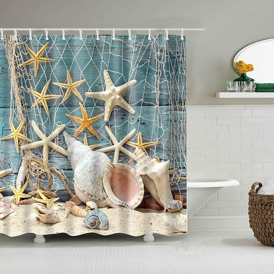 ComfiTime Starfish Shell Shower Curtain