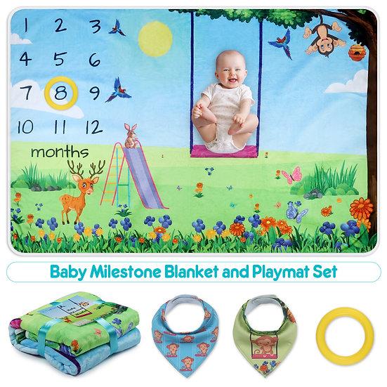 ComfiTime Baby Milestone Blanket -Park Fun