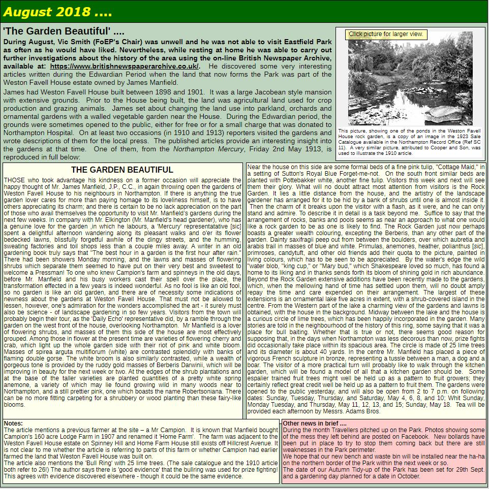 NEWS: August 2018