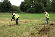 Mars-Wrigley Volunteers Raking the Set-aside 'Meadow' in Eastfield Park Northampton 4.JPG