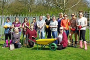 Volunteers from Thomson Holidays in Eastfield Park Northampton