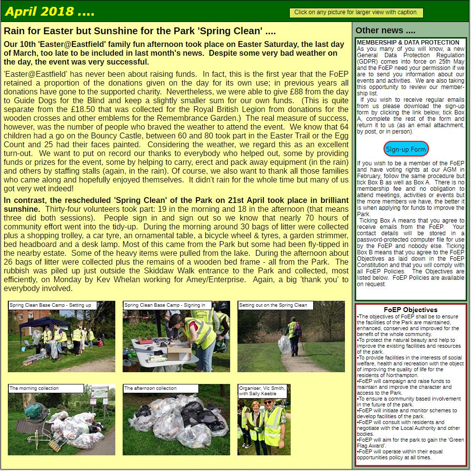 NEWS: April 2018