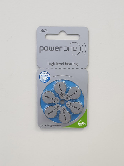 PowerOne 675 Hearing Aid Batteries (6 Cells)