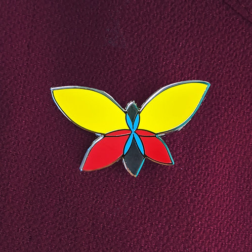 Butterfly Wellbeing Pin - Why the butterfly? It's hard of hearing too!