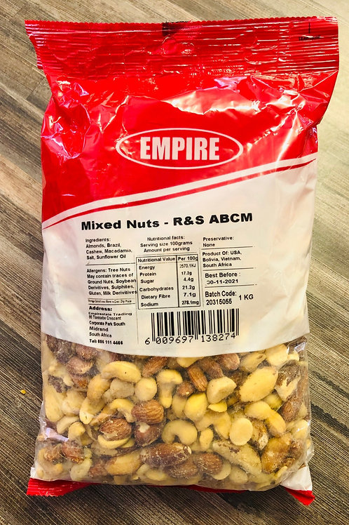 Mixed Nuts Roasted & Salted 1kg