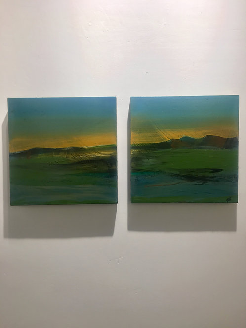 Tuscan Sunset A, B #2012 (diptych)