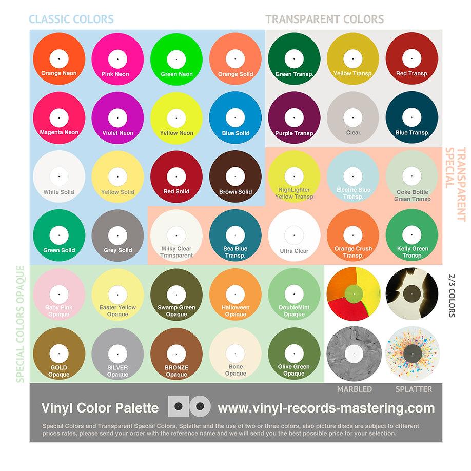 VINYL RECORDS MASTERING - VINYL COLORS.j