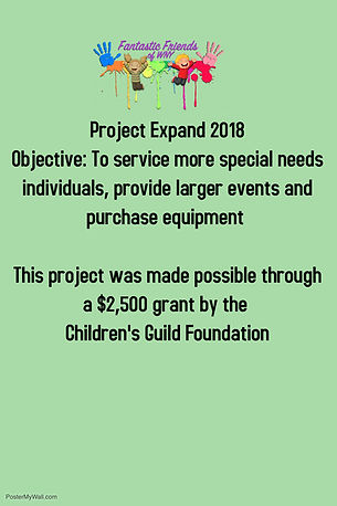Childrens guild grant - Made with Poster