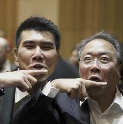 Henry Liang with the legendary Yo-Yo Ma_