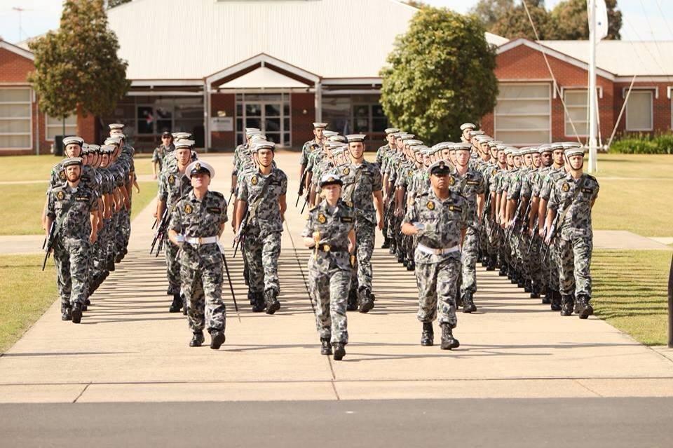 Navy recruit training at HMAS Cerberus