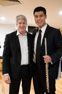 Henry Liang with Maestro Michael Stern i