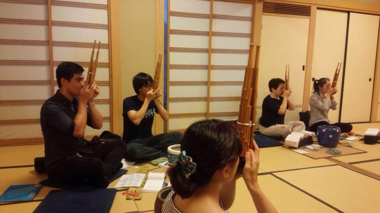 Shō rehearsal with Ono Gagaku-kai