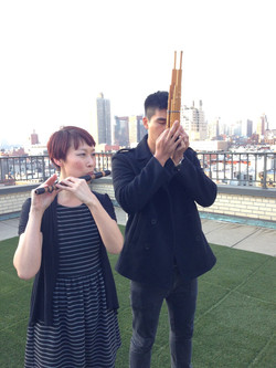 Henry Liang with Lish Lindsay on a rooft