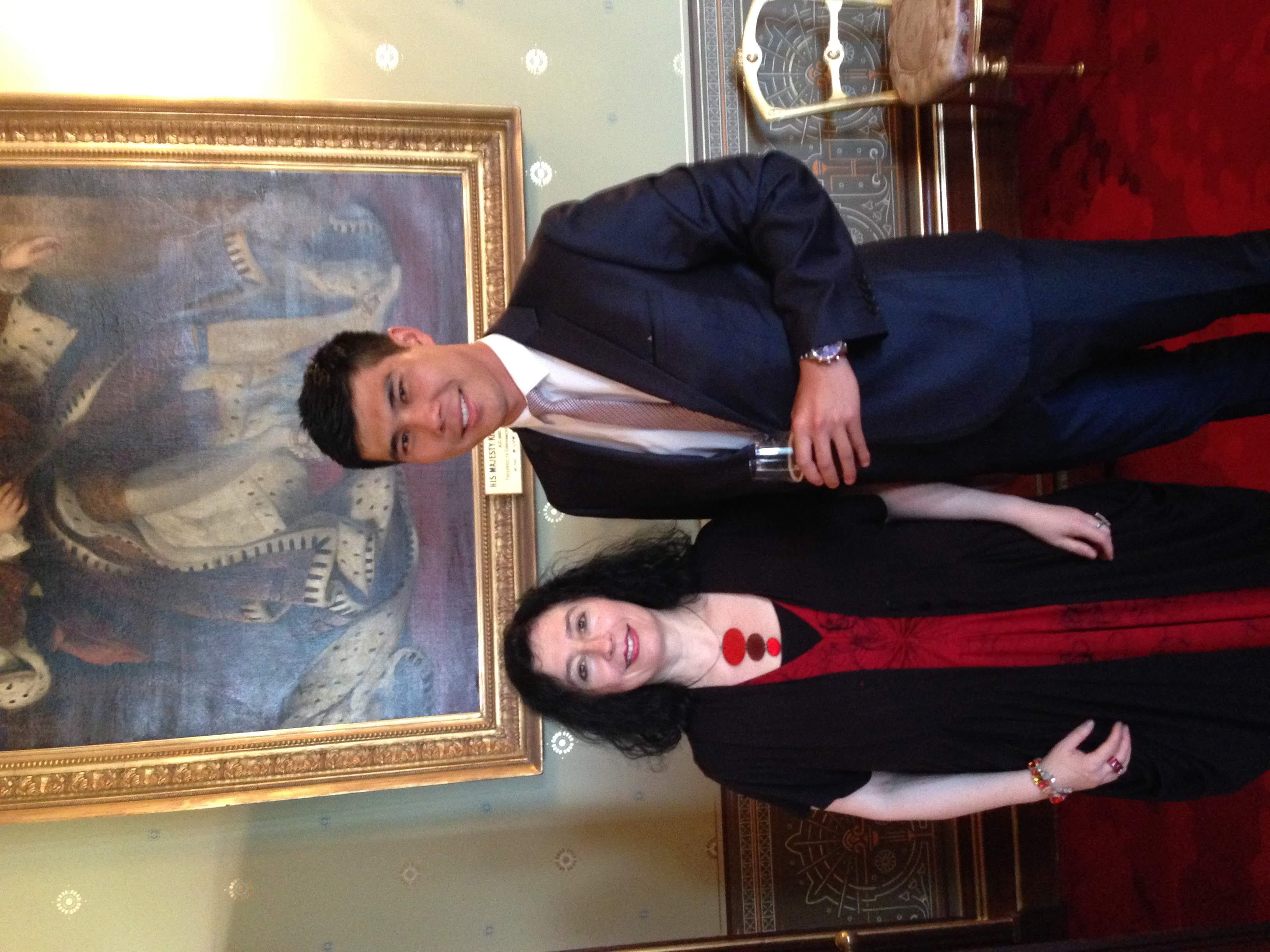 With Elena Kats-Chernin at Government House, Sydney.